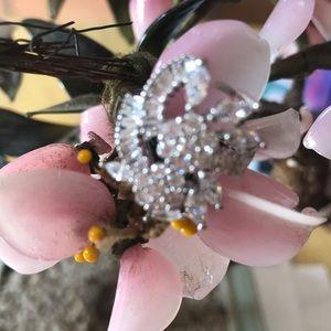 Vintage 925 crystal ring